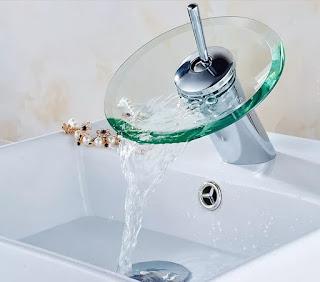 صنبور نمط مطبخ حمام من والزجاج مع دورة  شلال حوض المغسلة الحنفية بالسعر:US$27.69