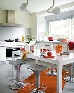 cocina moderna acogedora