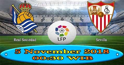 Prediksi Bola855 Real Sociedad vs Sevilla 5 November 2018