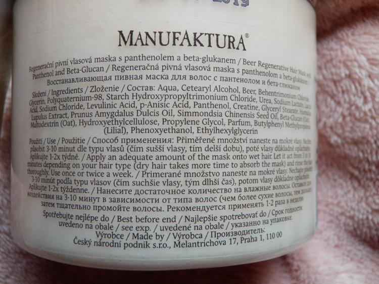 složení kosmetiky manufaktura