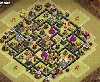 Formasi Base Clash of Clans Terbaru dengan Bomb Tower