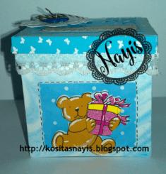 paso a paso tutorial caja alterada reciclaje