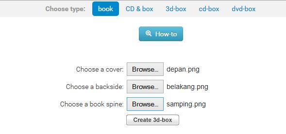 Cara Mudah Membuat Cover Ebook 3D, CD, DVD, dan Box 3D Secara Online