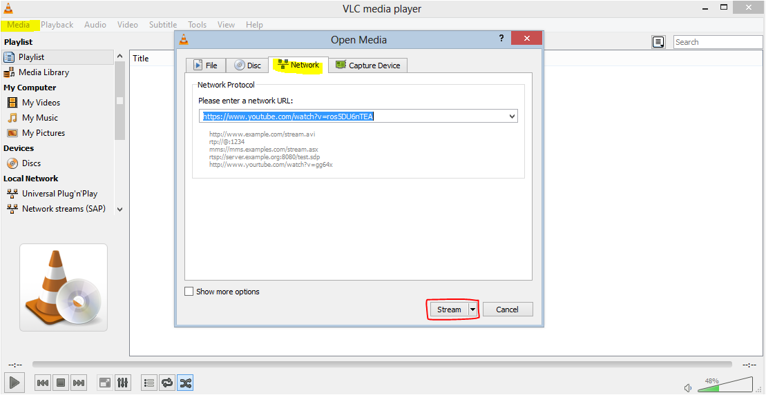 how to download youtube videos in vlc format