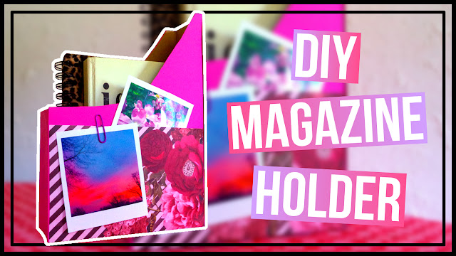 DIY Magazine Holder with Pockets