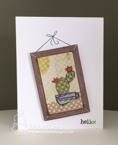 Hello by Debbie features Cuppa Cactus and Around the House by Newton's Nook Designs; #newtonsnook