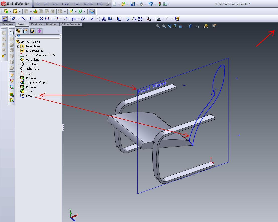 Chair Design Solidworks Wedding Covers For Sale Uk Simple Tutorial Make A Back Of The