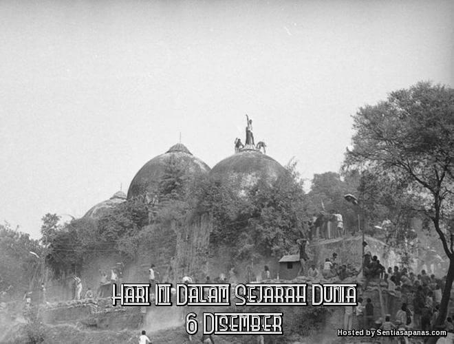 Peristiwa Penting Hari Ini Dalam Sejarah Dunia (6 Disember)