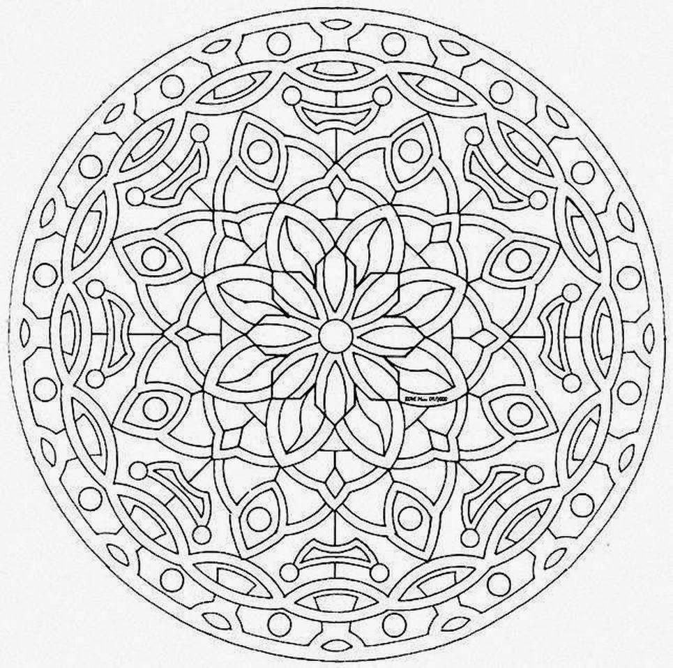 Mandala coloring pages ~ Mandalas Para Pintar: mandalas para colorear