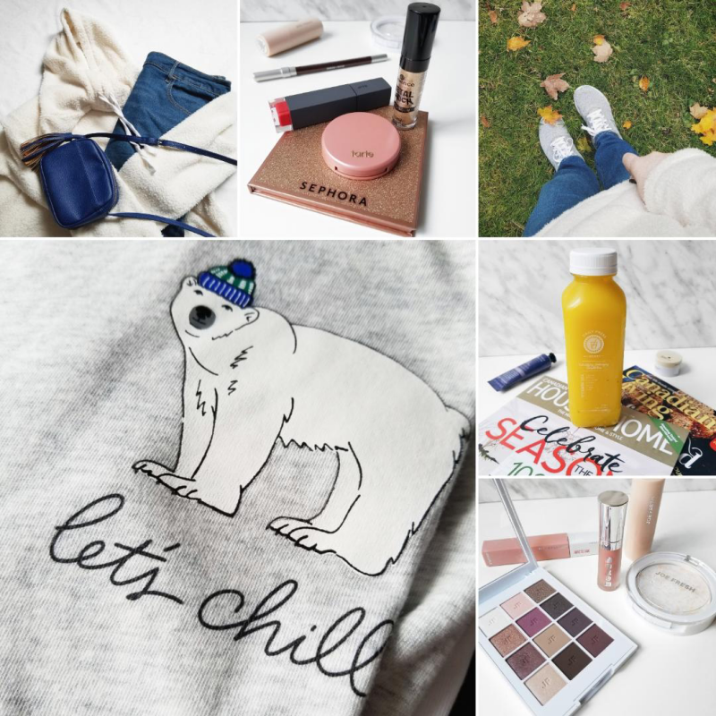 bblogger, bbloggers, bbloggerca, canadian beauty blogger, beauty blog, lifestyle blogger, southern blogger, instagram, round up, instamonth, old navy, polar bear tee, sherpa fleece, makeup of the day, bite beauty, essence cosmetics, metal shock liquid eyeshadow, monthly favorites