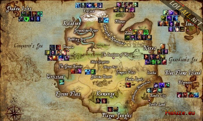 Alfa img - Showing > Champs with Map of Runeterra