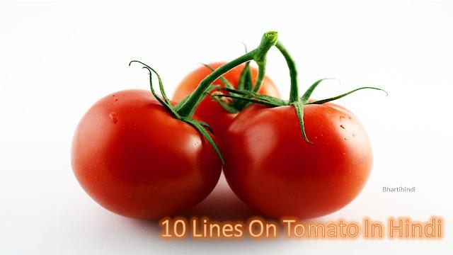 10 Lines On Tomato In Hindi | टमाटर के बारे में 10 लाइन की जानकारी