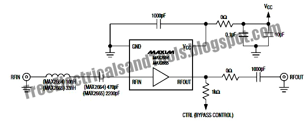 Max2664 Max2665 Vhf Uhf Low Noise Amplifiers Circuit