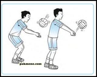 teknik dasar passing bawah bola voli