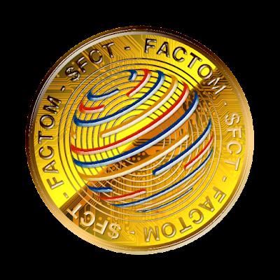 仮想通貨ファクトムのフリー素材(金貨ver)