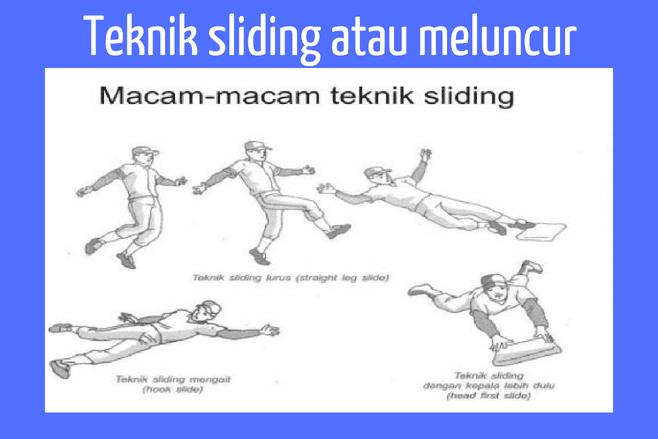 Teknik dasar Softball sliding atau meluncur