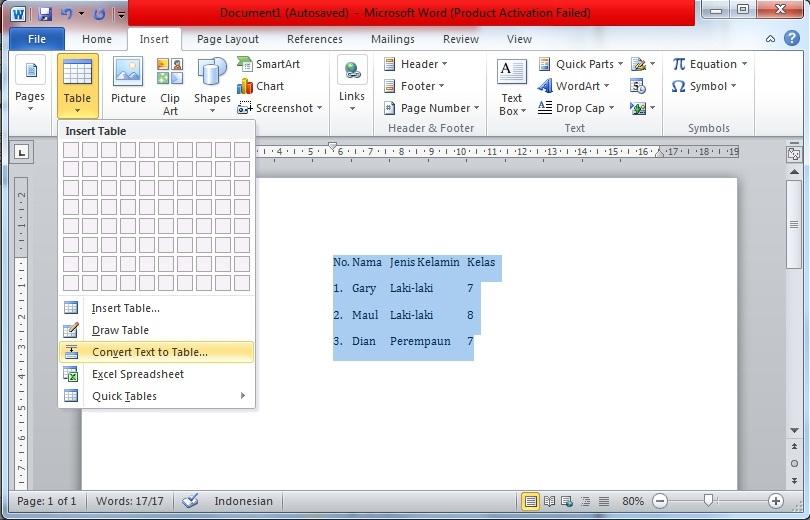Cara Membuat Tabel di Microsoft Word dengan Mudah ...