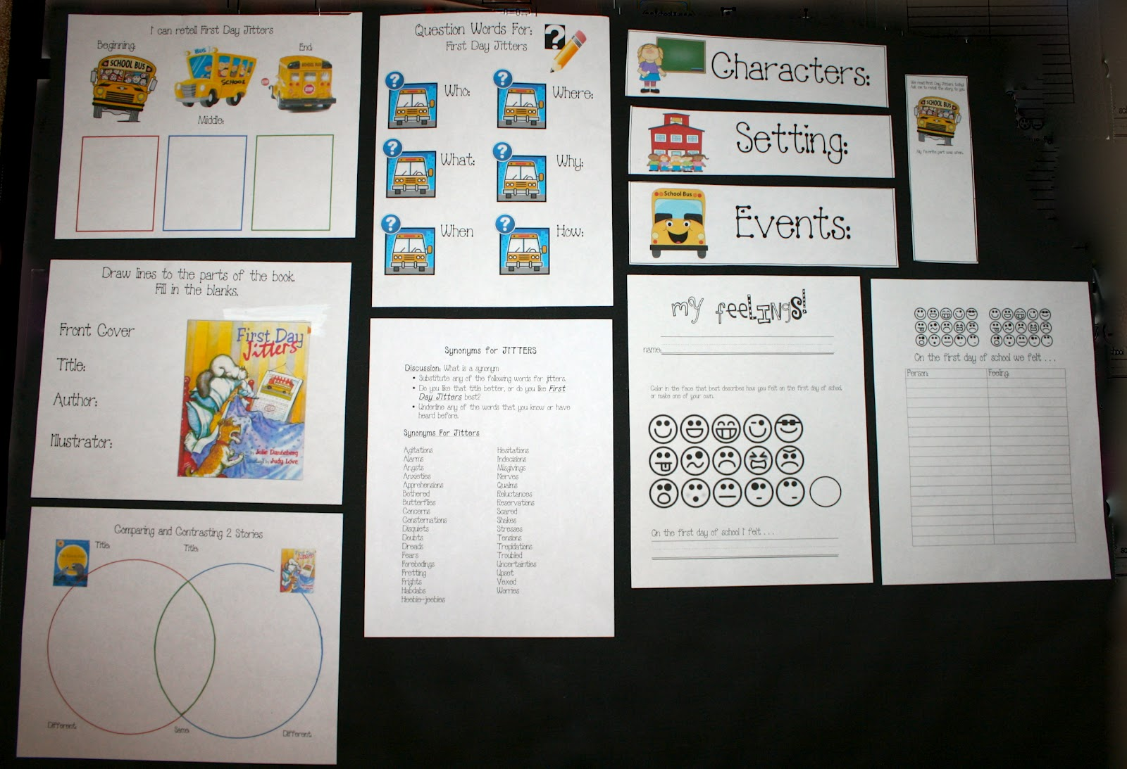Classroom Freebies First Day Jitters Packet