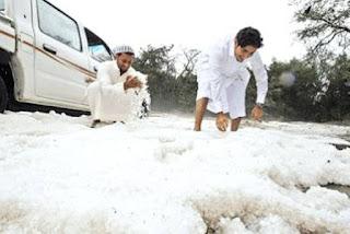 موجة برد قارس تضرب السعودية و درجات الحرارة تصل -4