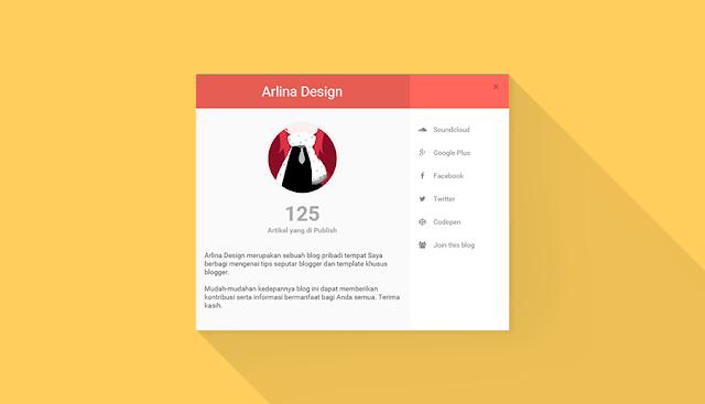 Memasang Pop Up About Us Ala Arlina Design