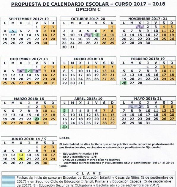 Calendario escolar Madrid 2017-2018 y convocatoria extraordinaria ...