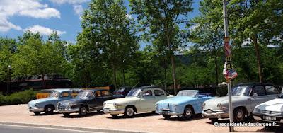 Voitures Panhard à Ambert juillet 2017.