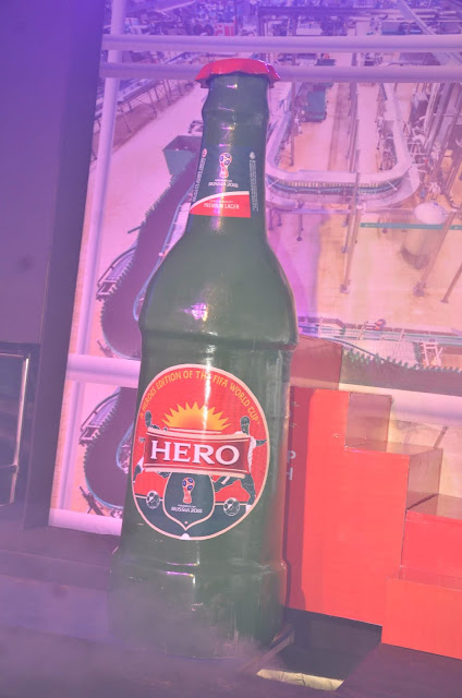 Hero lager beer wears a new cork as it is knighted