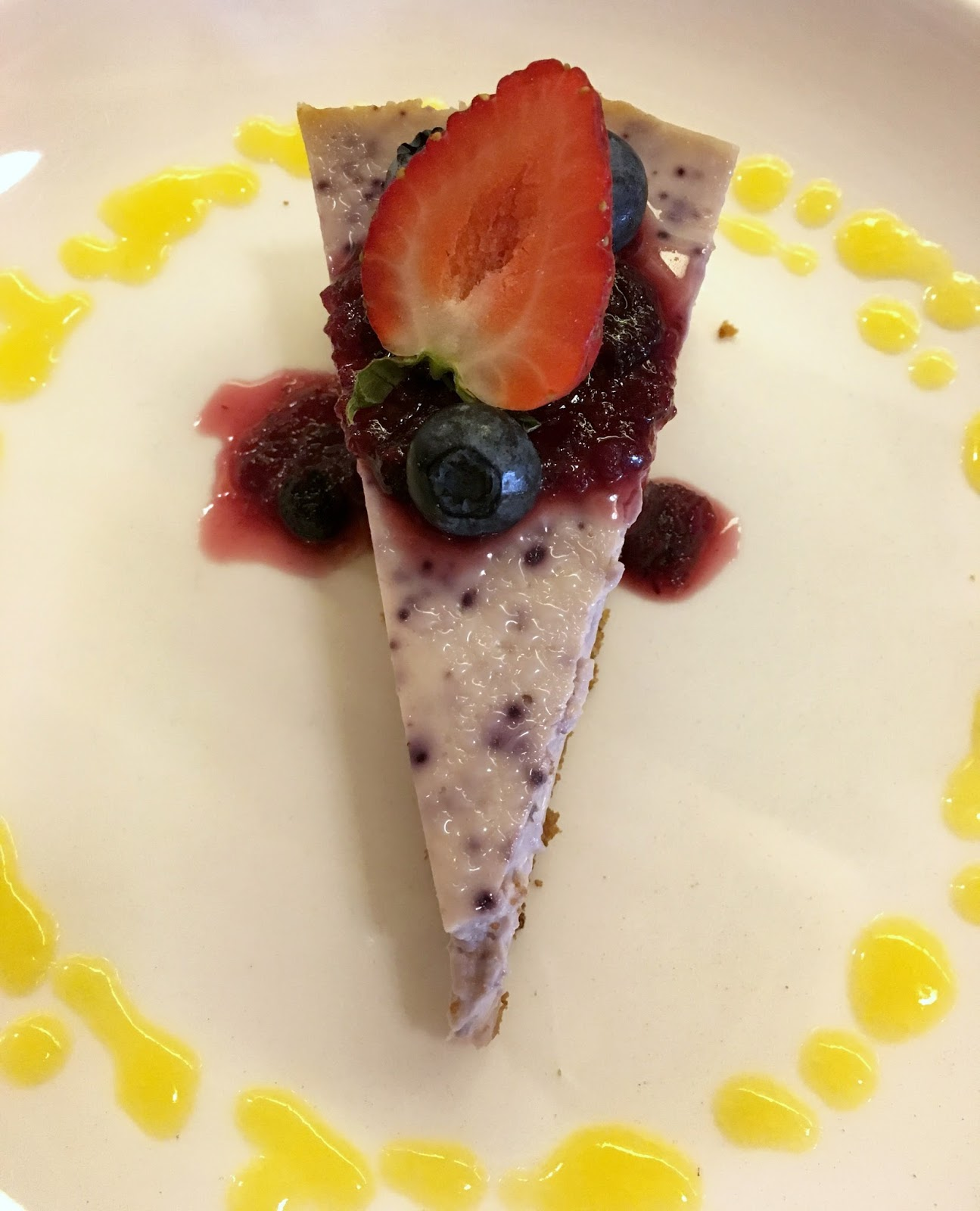 Padmanadi Edmonton Vegan Blueberry Cheesecake