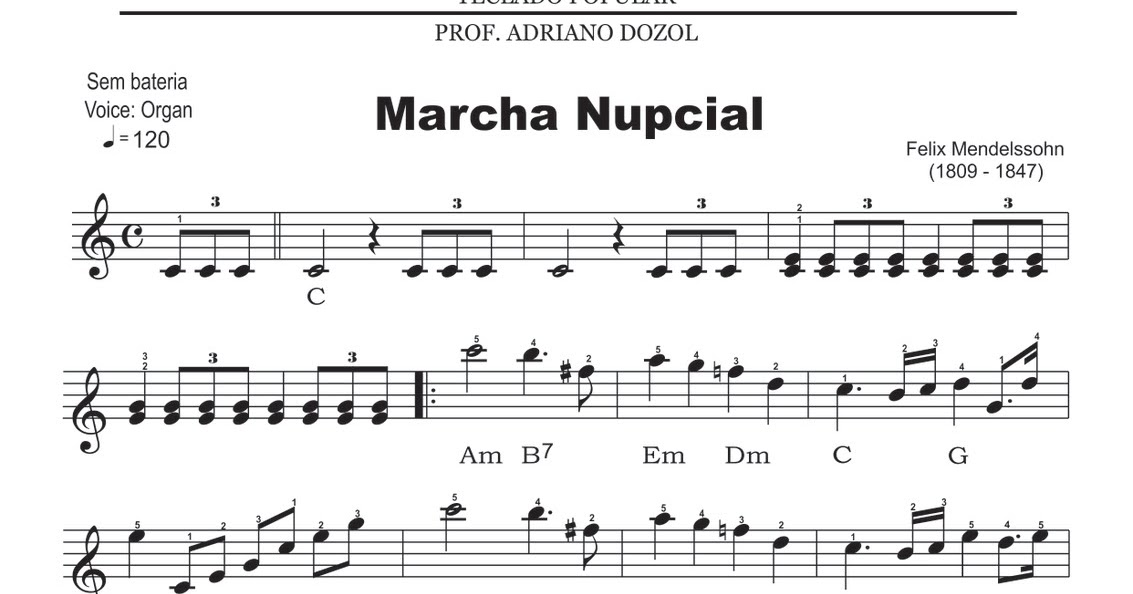partitura da marcha nupcial para violino