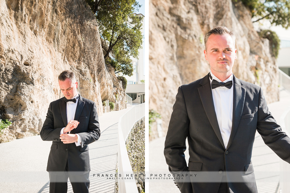 Groom in Praiano