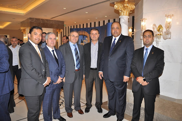Ziyad Bin Mahfouz with guests and staff during the marketing tour last year in Istanbul.