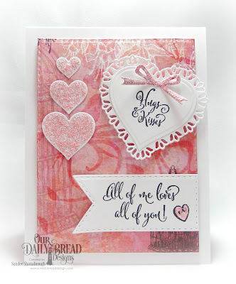 Our Daily Bread Designs Stamp Sets: Hugs and Kisses, To My Favorite, Custom Dies: Tulip Heart, Layering Hearts, Circle Ornaments, Double Stitched Pennant Flags, Double Stitched Rectangles, Paper Collection:Heart and Sou