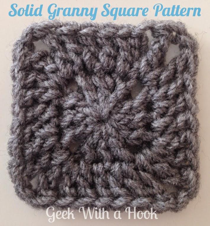 solid granny square pattern pdf