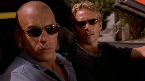 Vin Diesel, Paul Walker in The Fast and the Furious