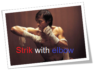 how to say to strike with elbow in thai language