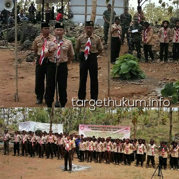 Dandim 0718 Pati Melantik Anggota Baru Saka Wira Kartika di Bukit Pandang