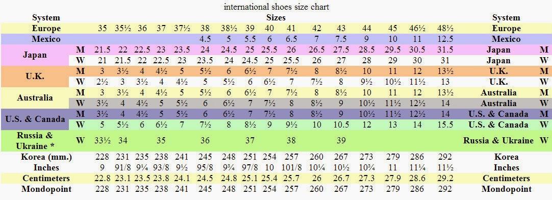 Us  Shoe Size In Nz