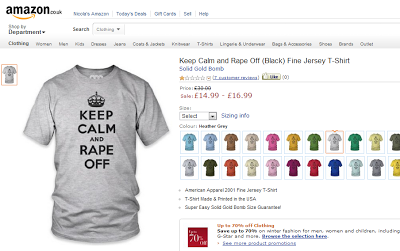 keep calm and rape off, t-shirt, amazon uk