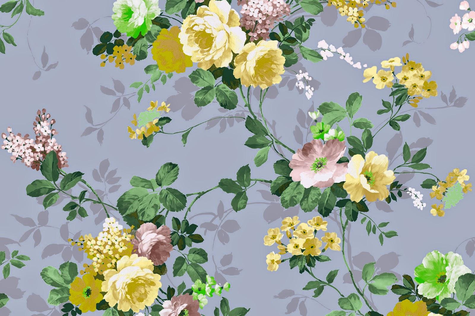 Doodlecraft: Vintage Floral Wallpaper Freebies!