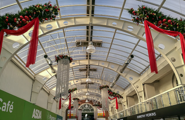 Phot of Christmas decorations at Dunmail Park Shopping Centre