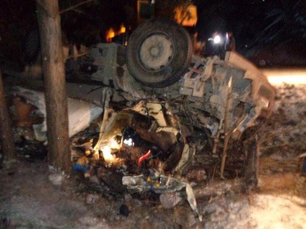 В Башкирии перевернулась фура: погиб водитель