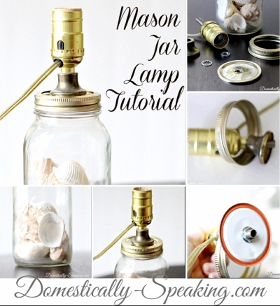 make a lamp from a mason jar