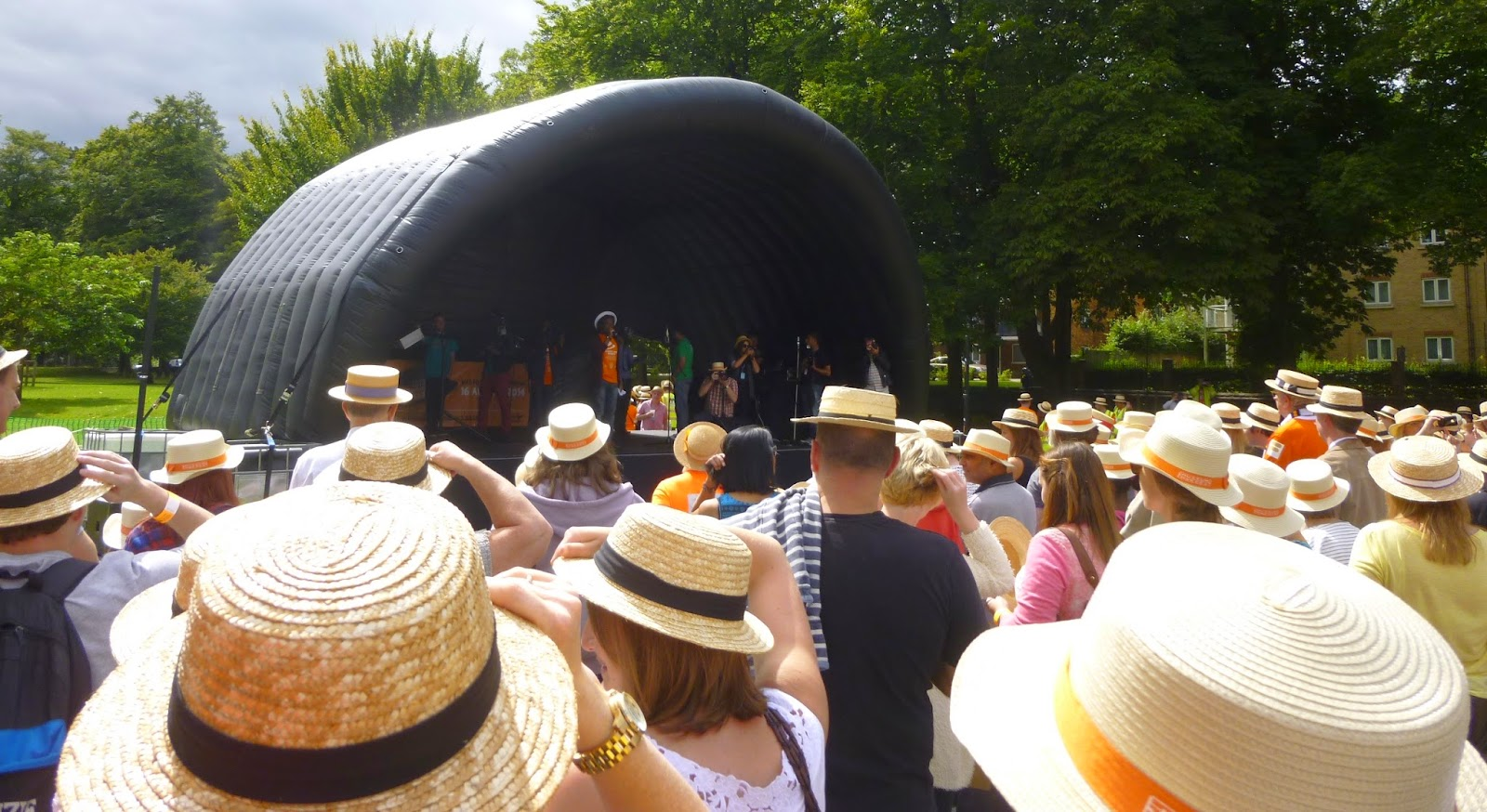 Guinness World Record attempt for the 'Largest Gathering of People Wearing Boater Hats'