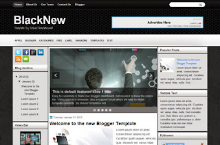BlackNew Free Blogger Template
