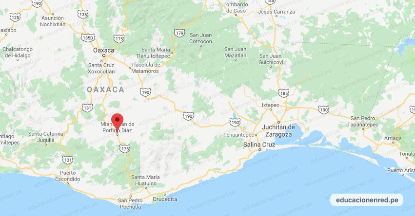 Temblor en México de Magnitud 4.0 (Hoy Sábado 11 Julio 2020) Sismo - Epicentro - Miahuatlán - Oaxaca - OAX. - SSN - www.ssn.unam.mx