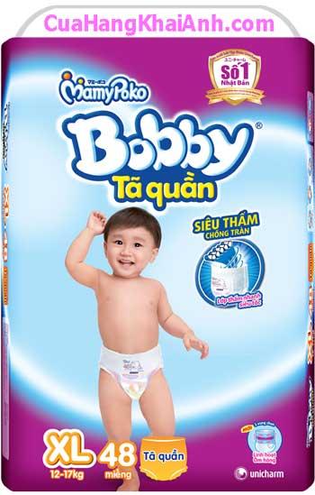 Tã Quần Bobby Size XL48 - 48 Miếng, Cho Trẻ 12Kg - 17kg