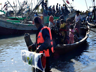 Rohingya migrant boat lands in Indonesia