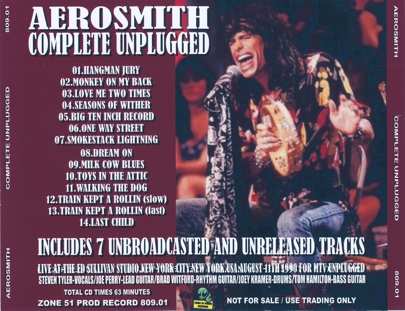 Reliquary Aerosmith 1990 08 11 Complete Unplugged Zone