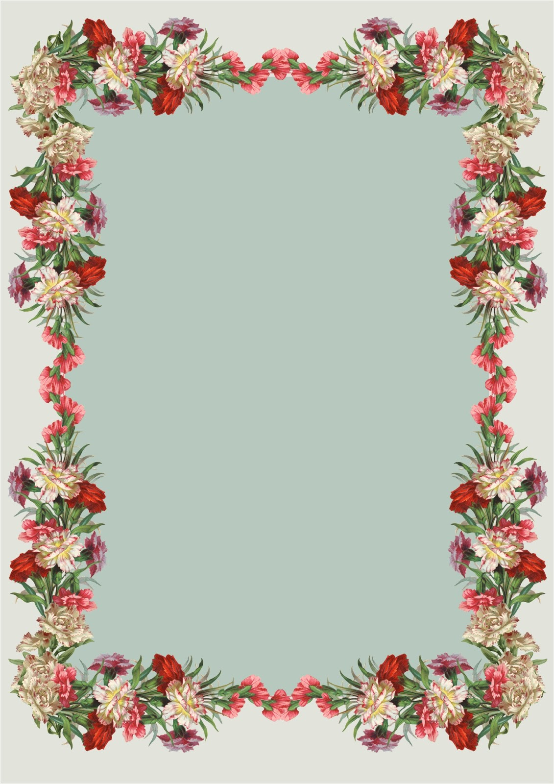 Hwfd Free Printable Vintage Flower Borders Wallpaper Download