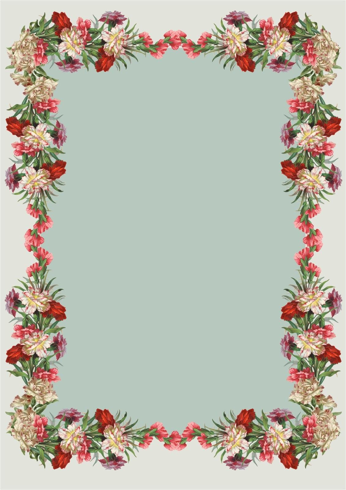 Free Printable Vintage Flower Stationery